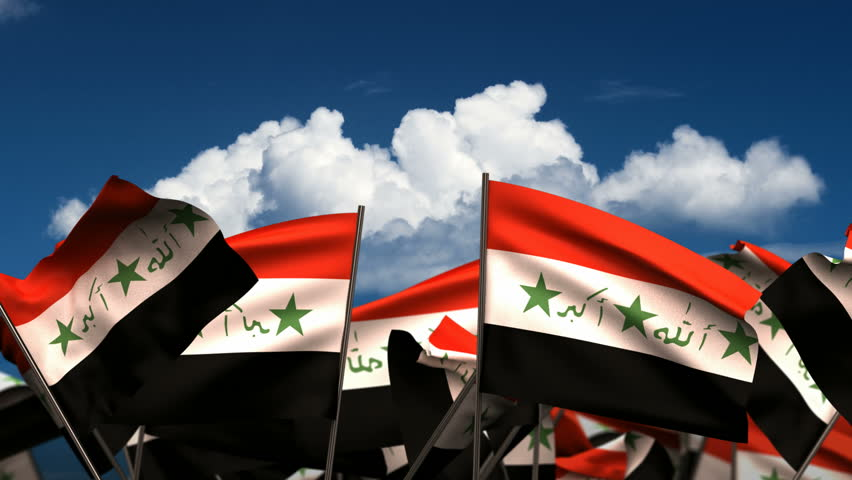 Waving Iraqi Flags