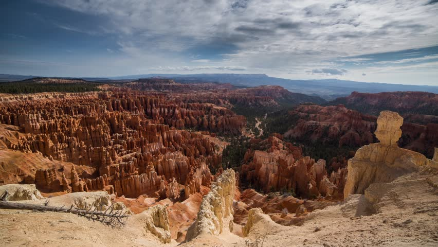 Overcast skies above Bryce Canyon National Park in Utah, United State