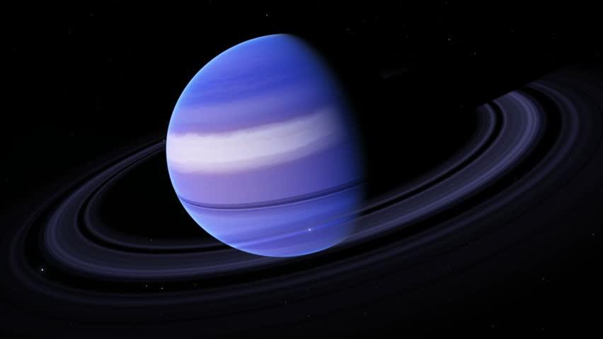 Planet Uranus Beautiful 3d Animation Of The Planet Uranus ...