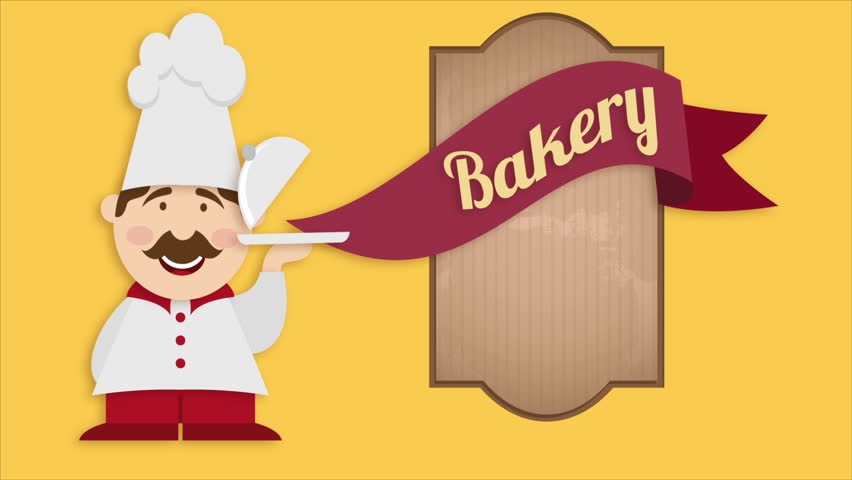 Cute bakery chef, Video animation, HD 1080