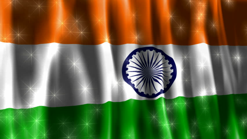 Indian Flag Animated: India Sparkling Flag Stock Footage Video 917200