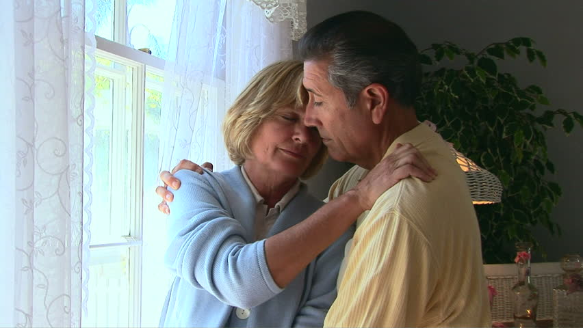 Husband and wife hugging - HD stock footage clip