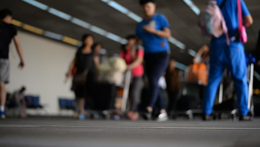Airport travelers defocused at Don Muang airport