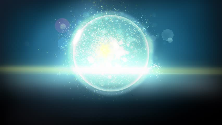 Dark Futuristic Orb Particles in Looping Background