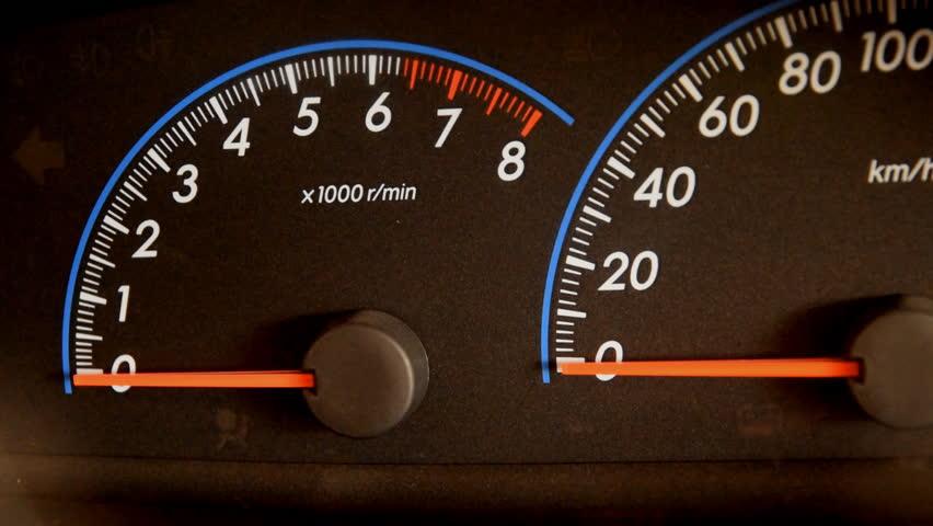 Closeup of car dashboard