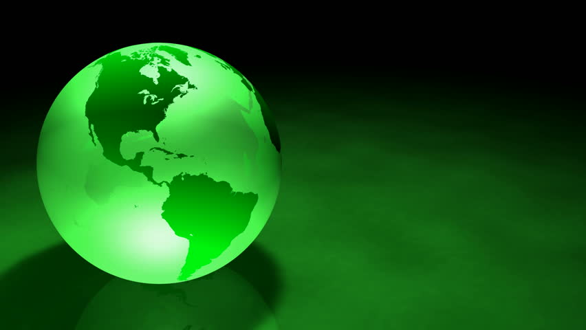 Glassy Green colored Earth Animation.  Alpha Matte make it ready to be used on another background or Footage. Seamless Loop - HD stock footage clip