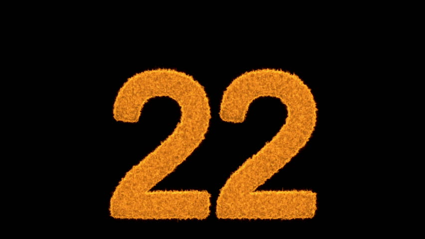 Flaming Number Two - 2 - On Black Flaming Number Two - 2 ...