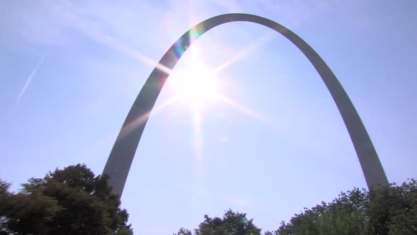 St. Louis Gateway Arch & Sun Stock Footage Video 976480 ...