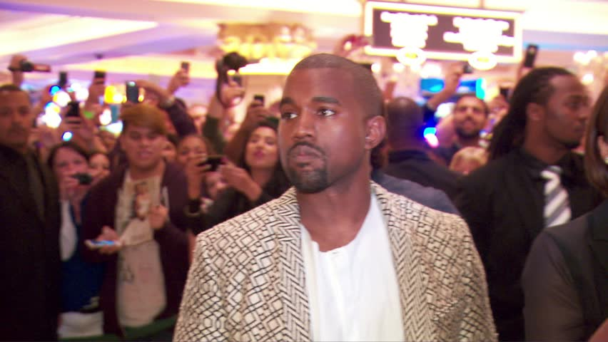 Las Vegas, NV - October 24,2014: Kanye West at Kim Kardashian's 34th Birthday Party, Tao - Venetian