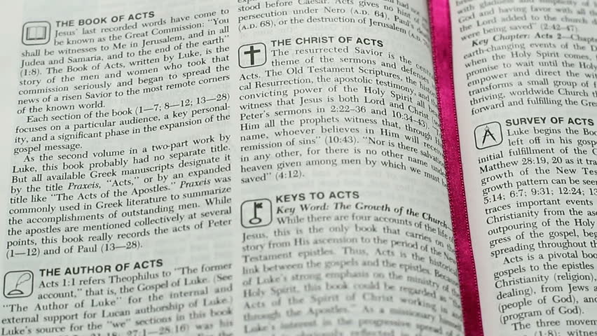 Header of Acts of the Apostles