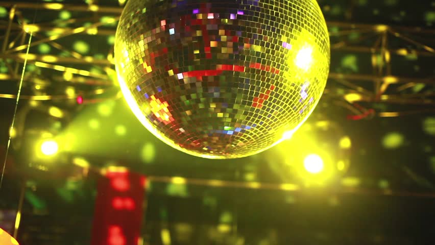 Mirror ball rolling in the night club