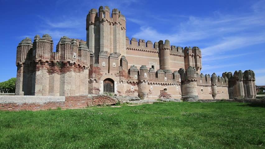 Coca Castle In The Castilla-y-Leon Province, Spain Stock Footage Video 992263...