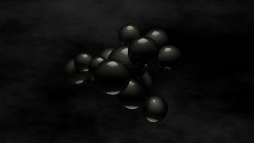 shiny black blob of balls