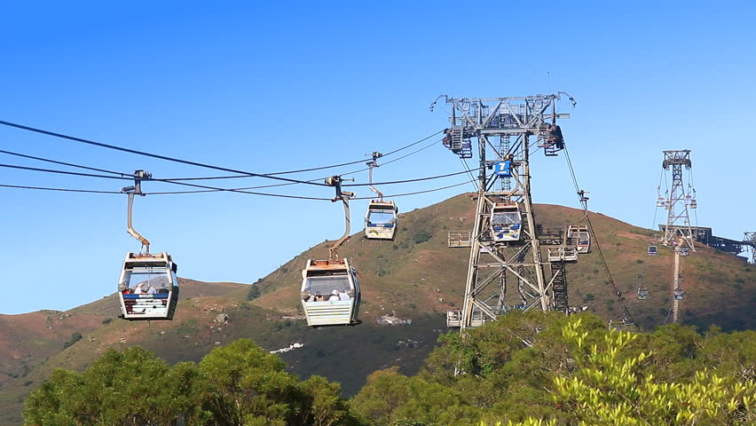 Ngong Ping 360 Cable Car, November 23 : The Cable Car Transport Service For Tourist Go To Worship Tian Tan Buddha Statue Of Hong Kong 2014